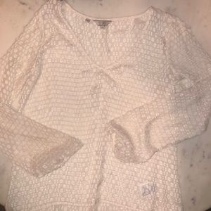 Guess sheer blouse womne's XS cream color